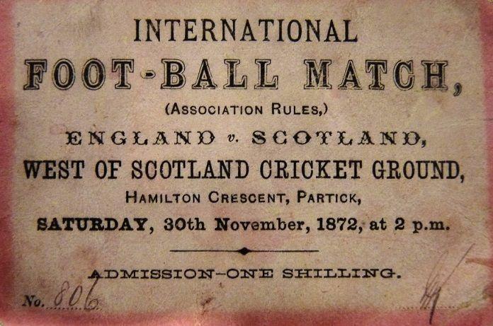 primer partido de futbol internacional