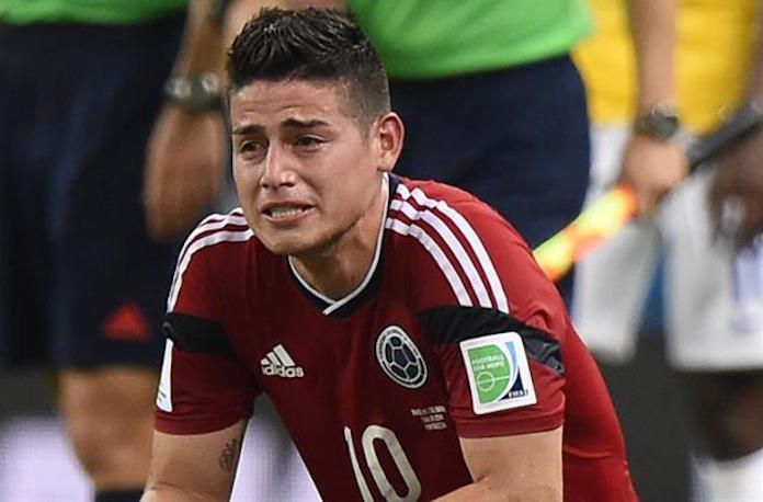 james rodriguez llorando